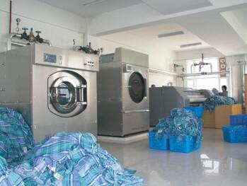 洗衣房操作现场